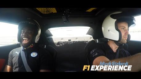 YAS MARINA: Watch Micah Richards enjoying the Yas Marina Grand Prix circuit