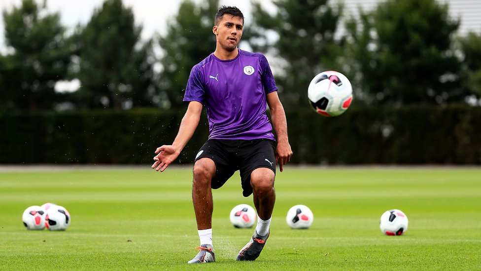 SETTLING IN : Rodri getting used to life at the CFA