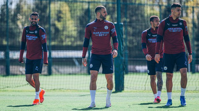 SQUAD GOALS: The lads get ready for the session ahead