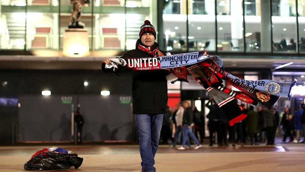 YES... they really do sell United and City friendship scarves...