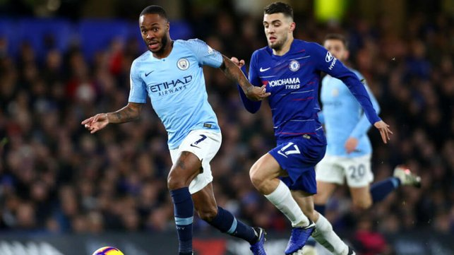 RACING CLEAR : Sterling shows his pace early on