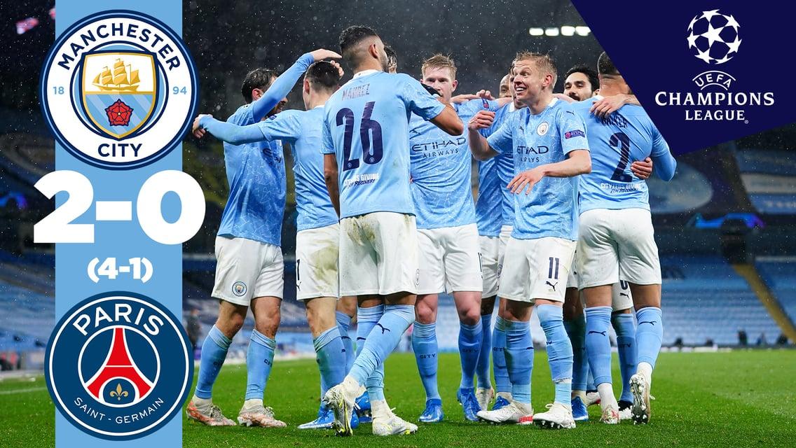 Cuplikan Pertandingan: City 2-0 PSG