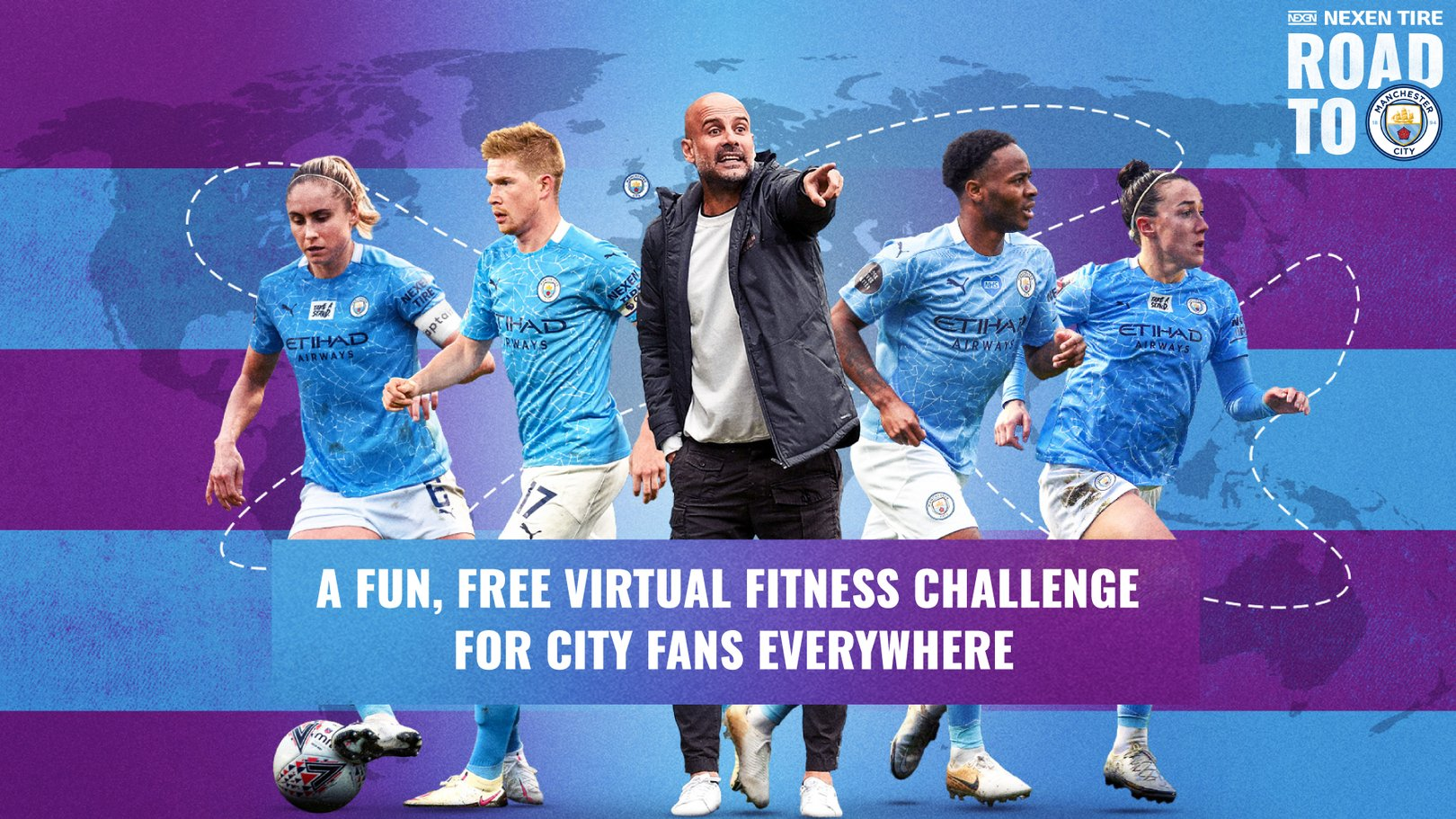 Get set for the Nexen Road to Man City virtual fitness challenge!