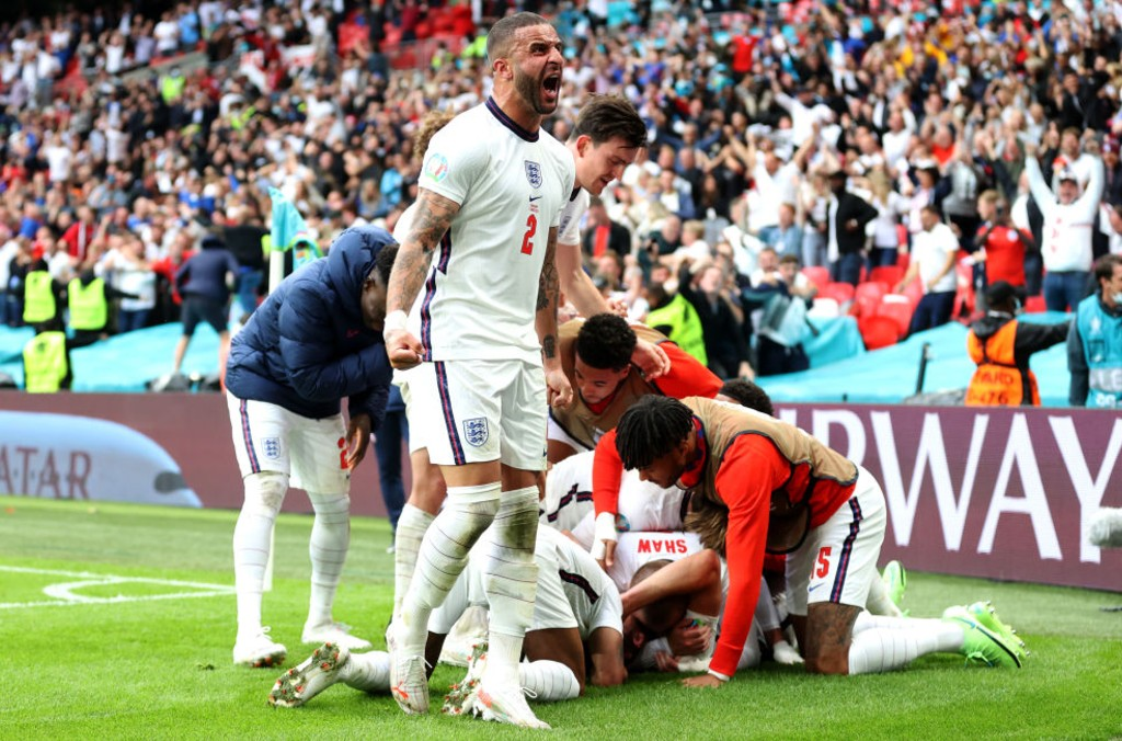 ROAR POWER: It has been a tournament to remember for Kyle Walker and England