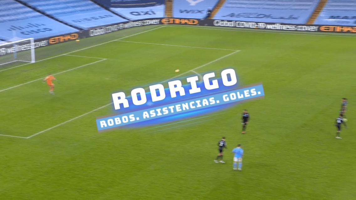 Rodrigo: robos, asistencias y goles
