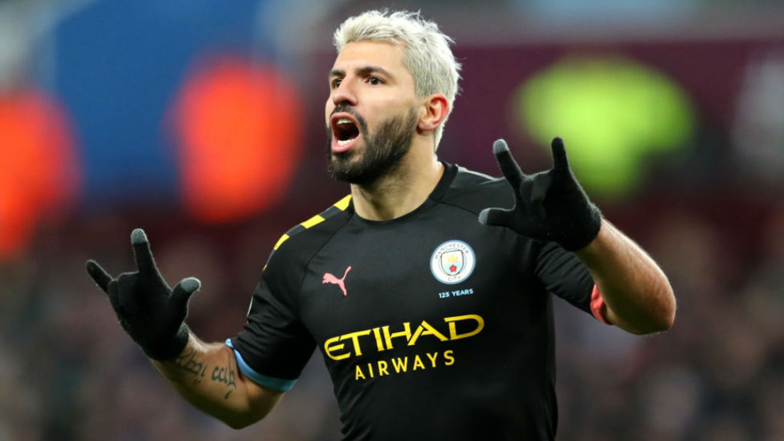 RECORD BREAKER: Sergio Aguero celebrates after becoming the Premier League's all-time leading overseas scorer