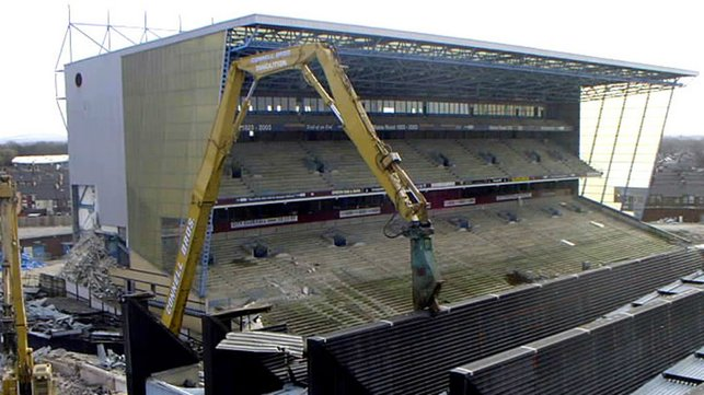 BARE : The Kippax stripped of its seats.