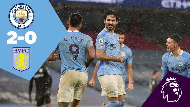 City 2-0 Aston Villa: Full-match replay