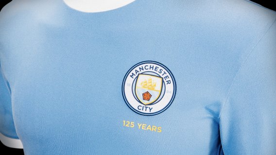CITY 125: 68% of fans chose the 125 years anniversary crest in full colour. 58% of fans then voted for the crest to be positioned on the left chest.