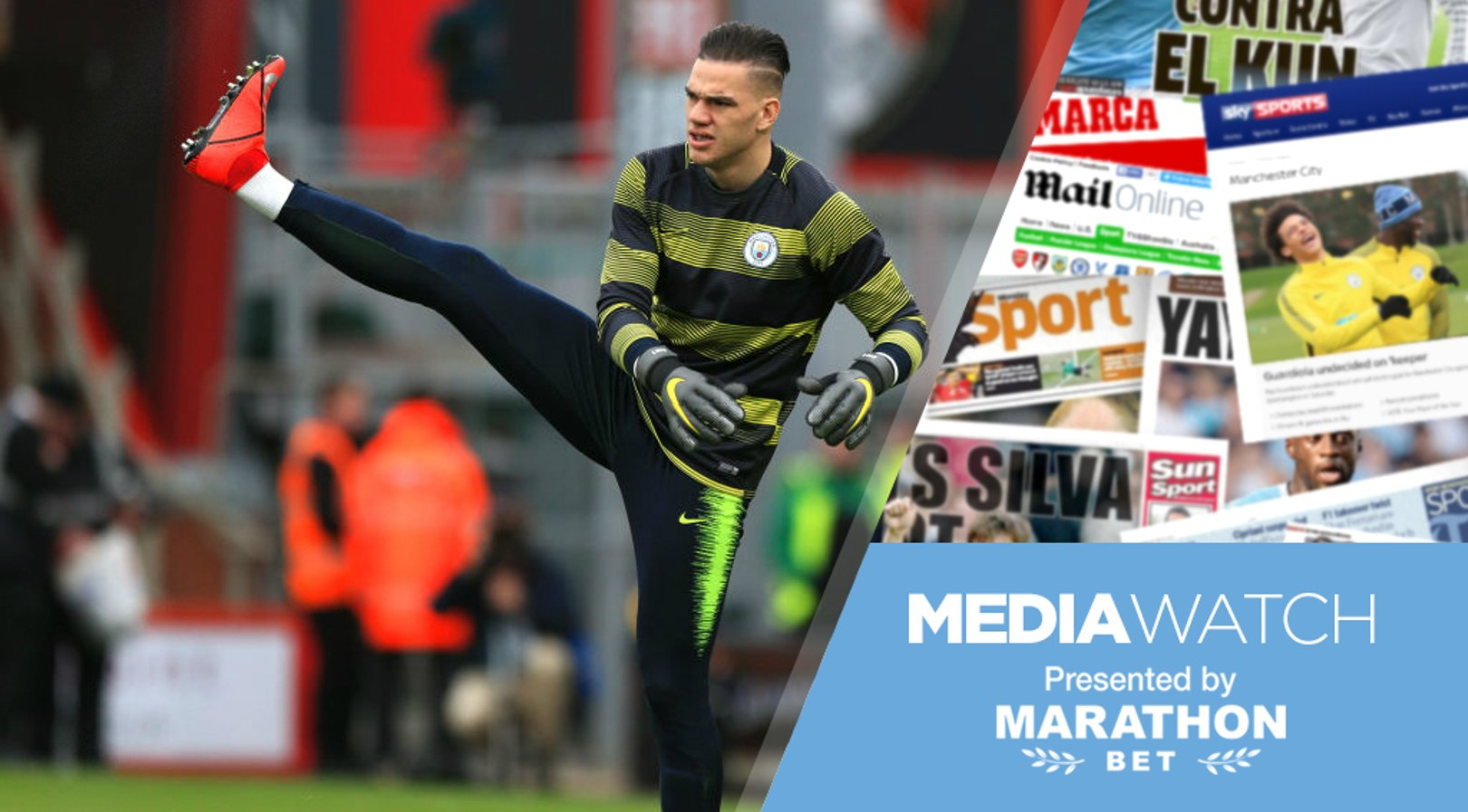 MEDIA WATCH: Ederson has been praised by a fellow 'keeper.