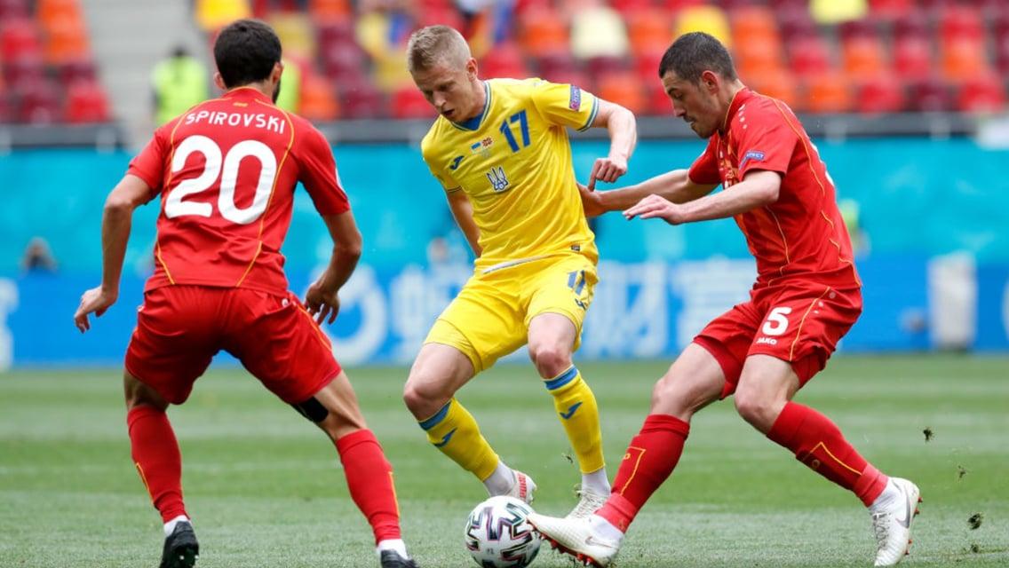 Zinchenko helps Ukraine to first Euro 2020 win