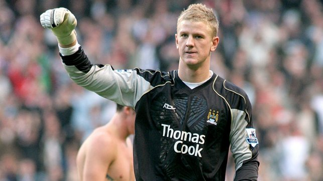DEBUT : A young Joe Hart keeps a clean sheet against Sheffield United 2006.