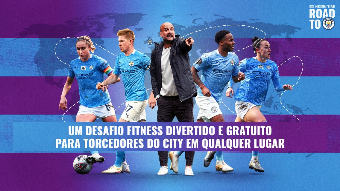 Prepare-se para o Nexen Road to Man City, o desafio fitness virtual!