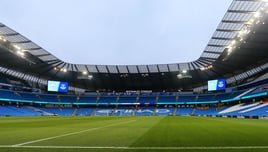 HOME: The stage is set ahead of kick off.