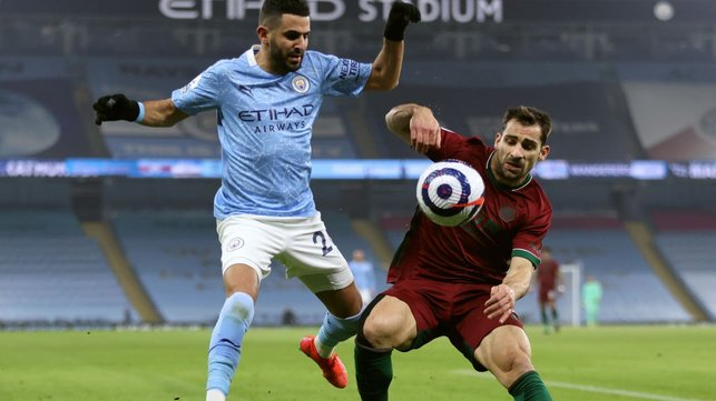 WING WIZARD: Riyad Mahrez looks for an opening