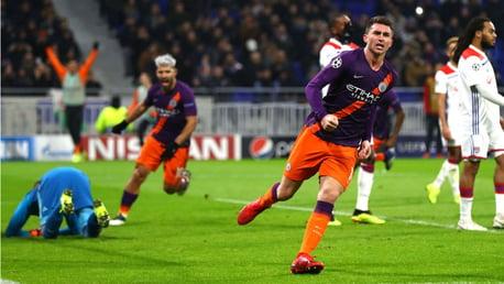 LEVEL BEST: Aymeric Laporte celebrates his goal