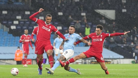GAB STAB: Gabriel Jesus pokes us level just after the half hour mark