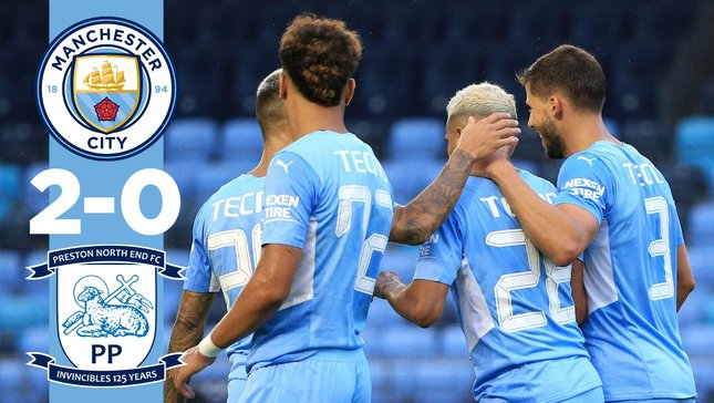 City 2-0 Preston: Match highlights