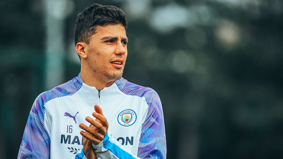 HAND IT TO RODRI : Our Spanish midfielder warms to the task in hand