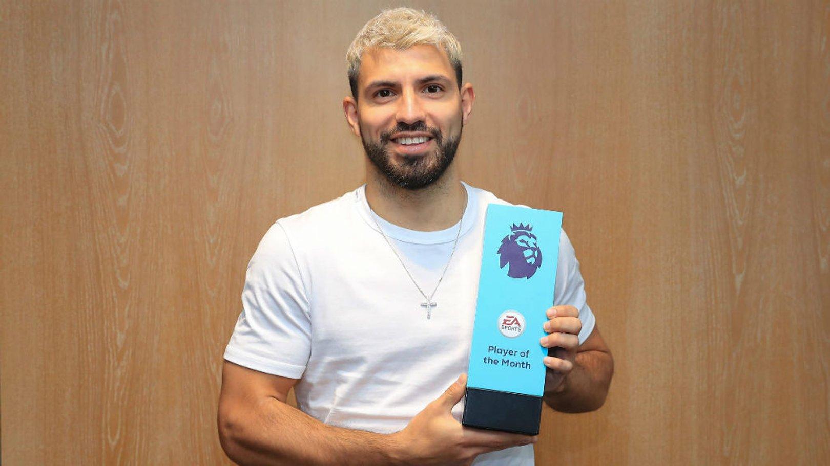 POTM: Sergio Aguero has won February's Player of the Month award