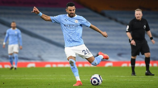 GOALS GALORE: Mahrez grabs his second and City's fourth