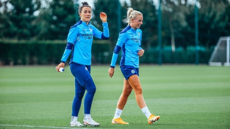 POSITIVE SIGNS: It was great to see new signings Lucy Bronze and Alex Greenwood kitted out in Blue!