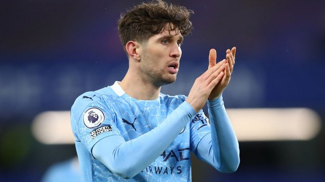STONES SUPPORT: John Stones encourages his teammates