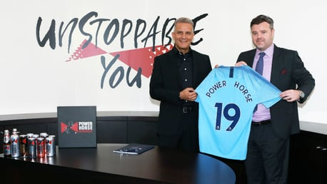 NEW PARTNERSHIP: Manchester City today announced a multi-year partnership with Power Horse to become the Club's Official Energy Drink Partner.