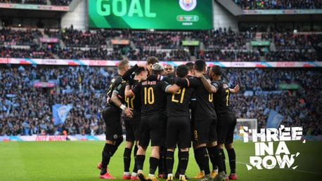 CITY: The boys celebrate together