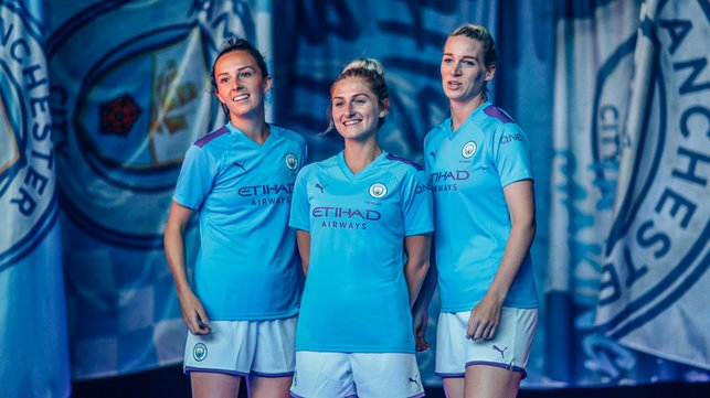 BLUE STEEL : Caroline Weir, Laura Coombs and Gemma Bonner could all prove key figures on Saturday