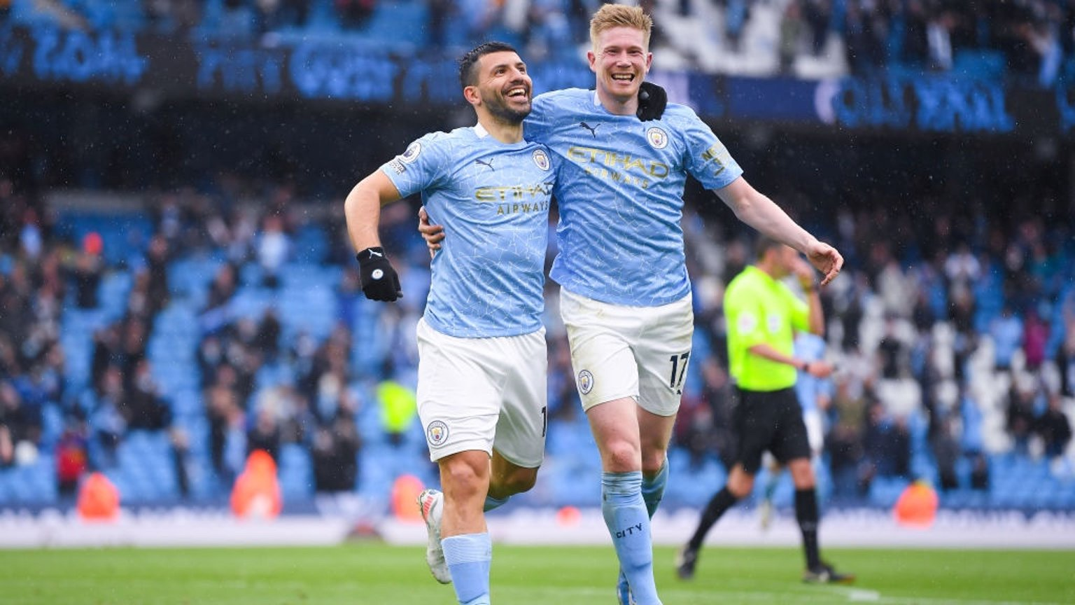 WRITTEN IN THE STARS: The all-time leading City scorer celebrates adding another to his tally!