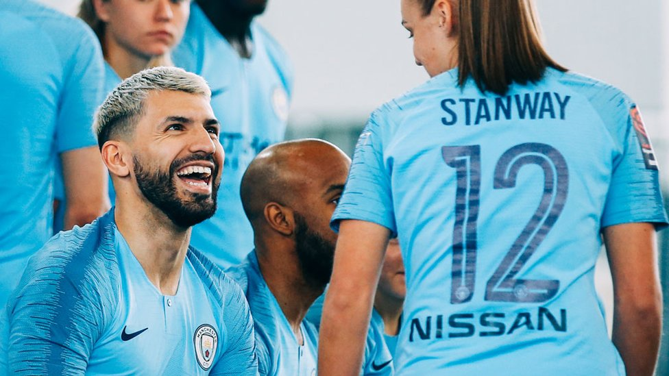 FORWARD MARCH : Sergio Aguero and Georgia Stanway have been in sensation form