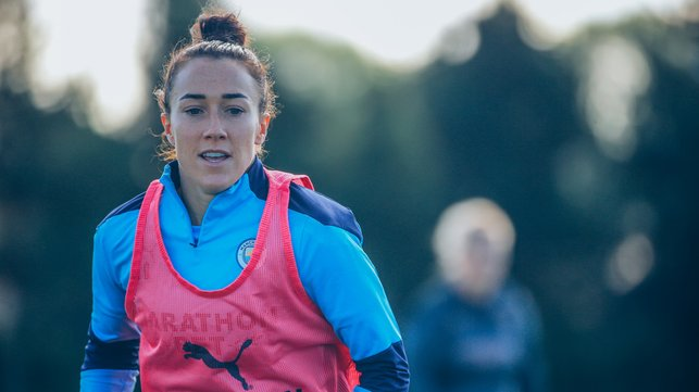 BRONZE AGE: Lucy Bronze gets straight down to work after rejoining City from Lyon
