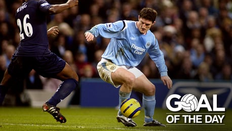 THE LAST MOMENT: Jon Macken heads home in the dying moments to win it for City