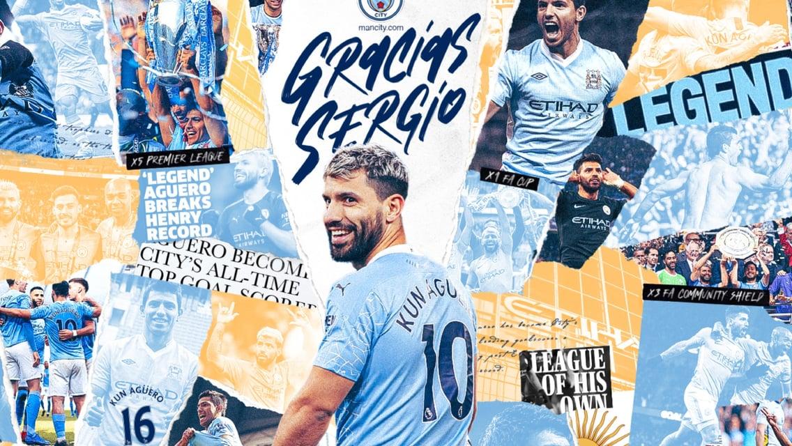 Todos os gols de Sergio Agüero no Manchester City!
