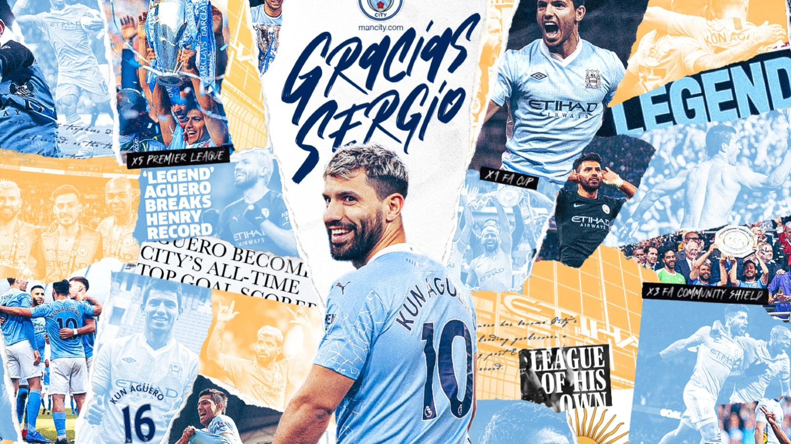 Relive all of Sergio Aguero's City goals