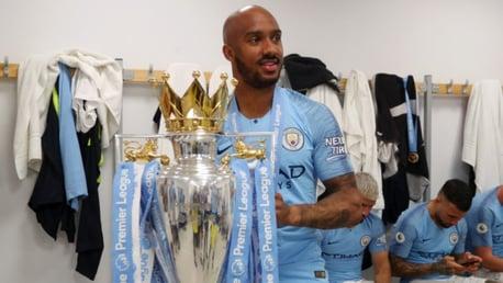 CHAMPION: Fabian Delph won back to back Premier League titles with City.