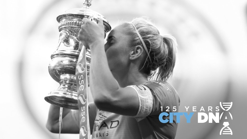 SKIPPER: City and England captain Steph Houghton has led the Club to a clean sweep of domestic glory