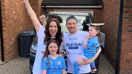 City fans from around the world complete Blue Run for City in the Community