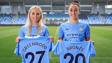 Greenwood and Bronze meet the press