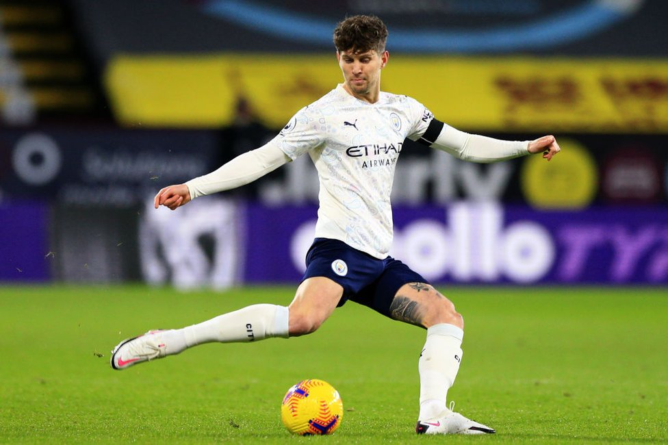 MADE OF STONES : An in-form, John Stones keeps the ball moving.