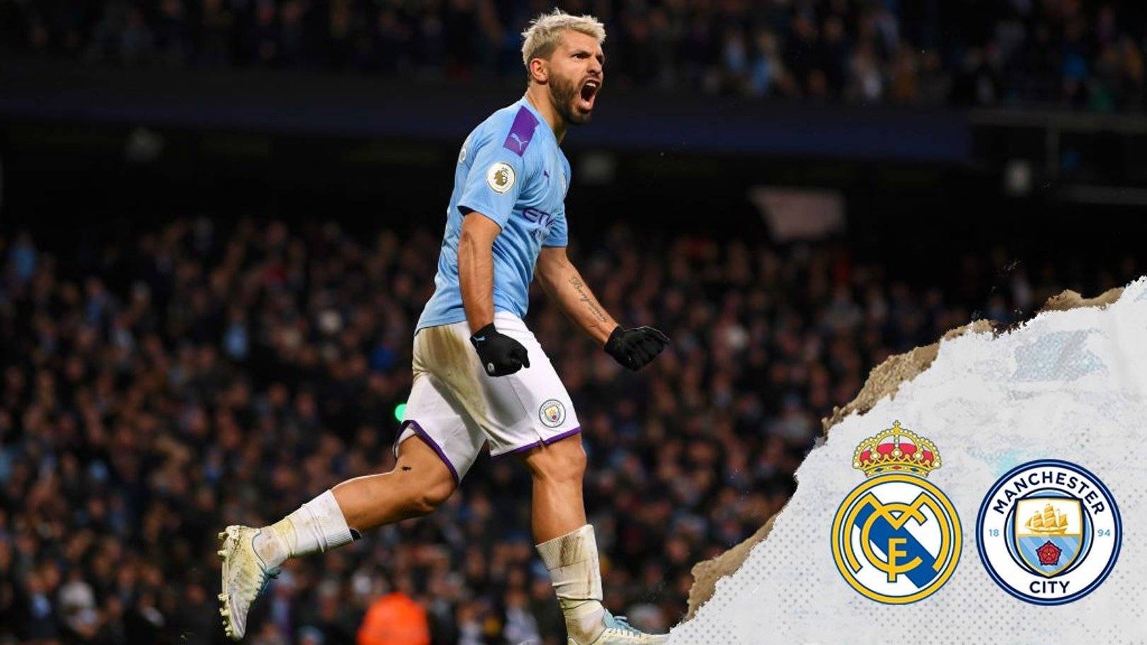 Which TV channel is Real Madrid v City on?