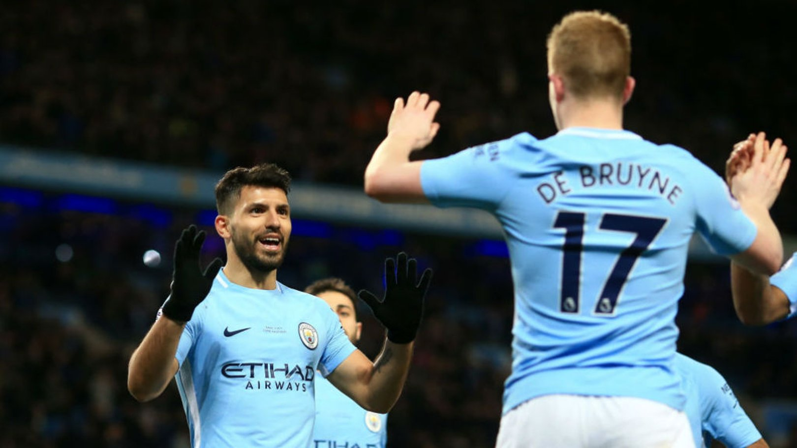 BACK: KDB and Sergio both start for City, alongside 17-year-old Eric Garcia.