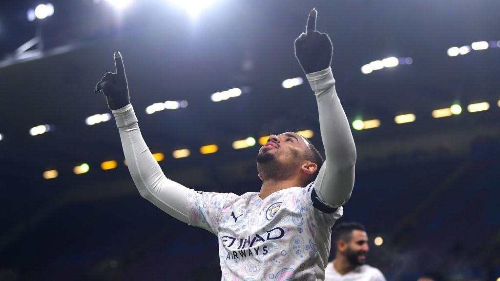 GOLEADOR. : Jesus superó a Tévez en la lista de goleadores históricos del Manchester City.