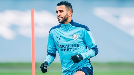 FOCUS TIME: Riyad Mahrez gets down to work