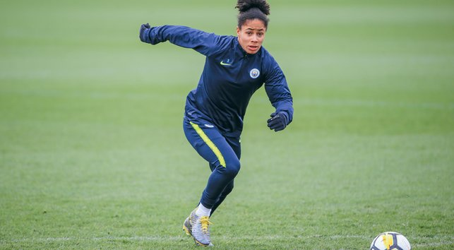 ACTION STATIONS : Demi Stokes puts in sprint work