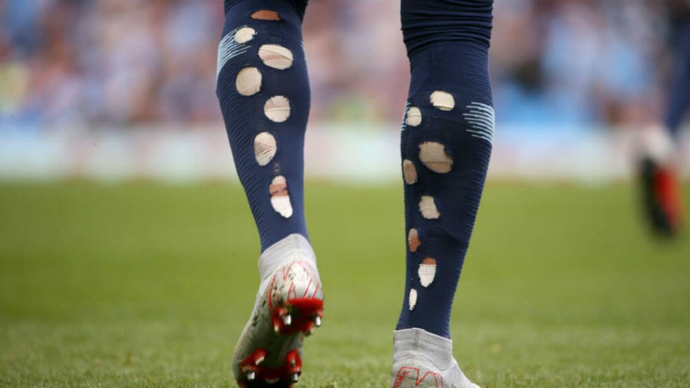 TURBO CHARGED : Kyle Walker's unique sock style on show again!