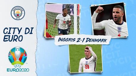 Empat Penggawa City Membantu Menciptakan Sejarah Ketika Inggris Memantapkan Tempat di Final Euro 2020
