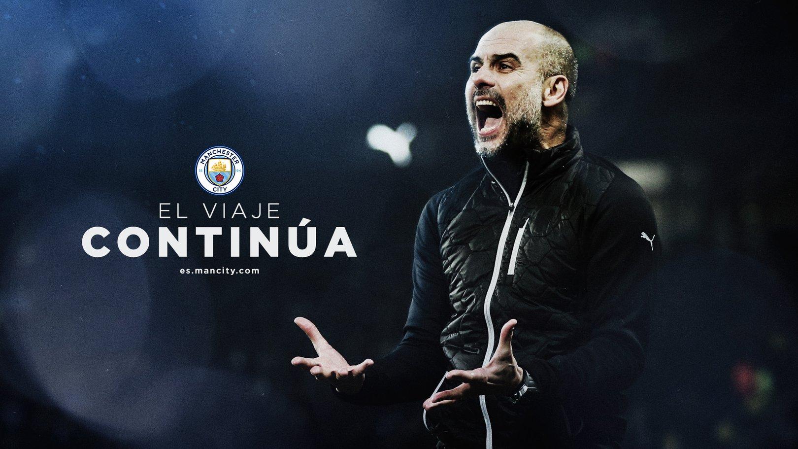 Pep Guardiola amplía su contrato con el Manchester City hasta 2023