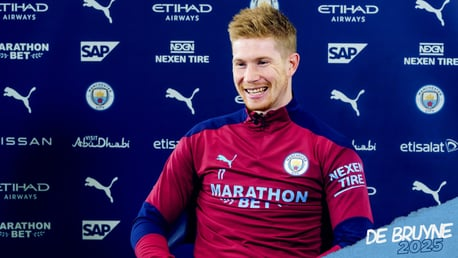 Kevin De Bruyne: O estilo de jogo do City me anima